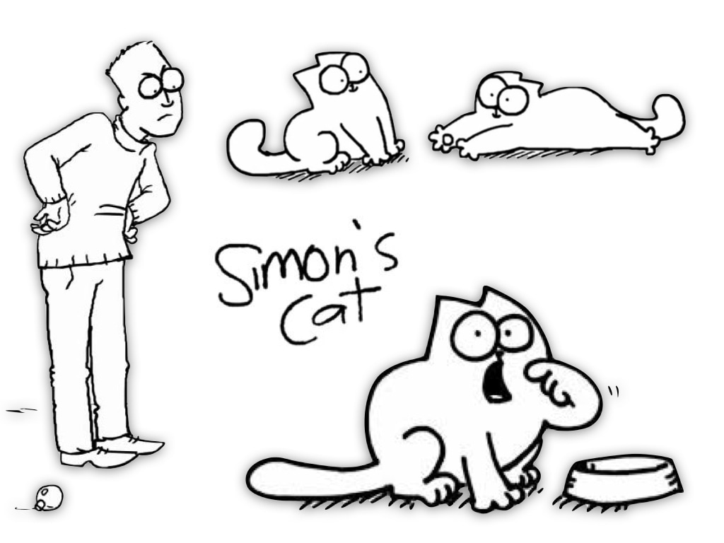 1024x768 Simon's Cat Drawing And Match Game