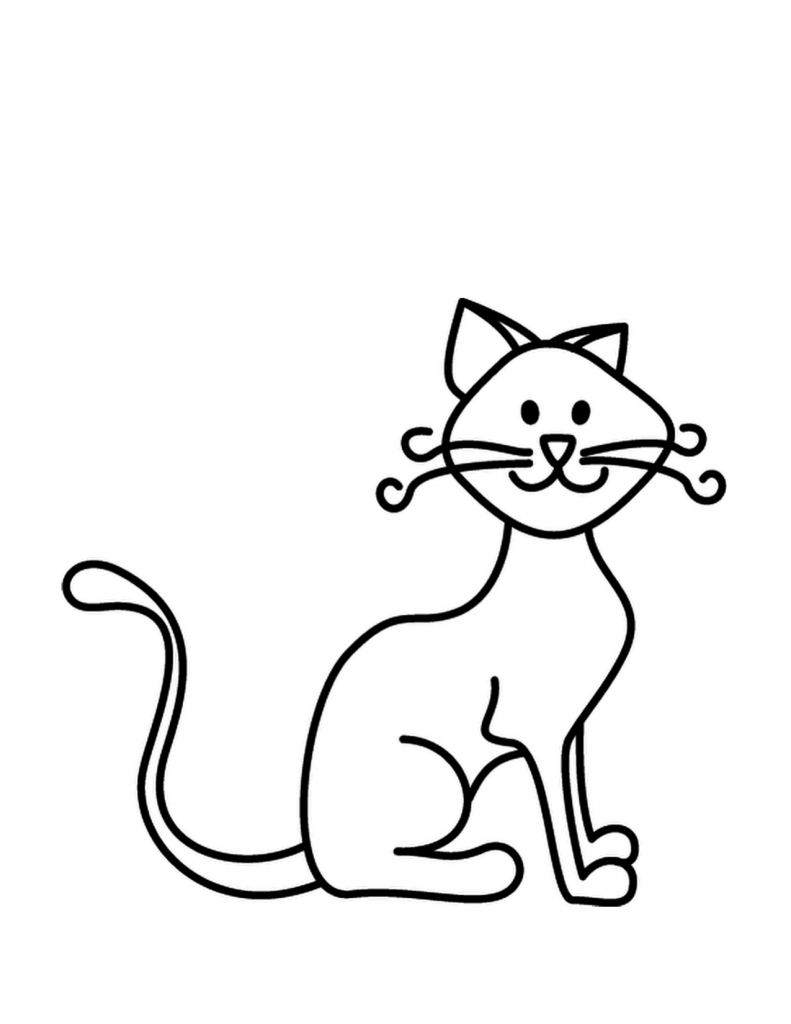 791x1024 Simple Drawing Of Cat