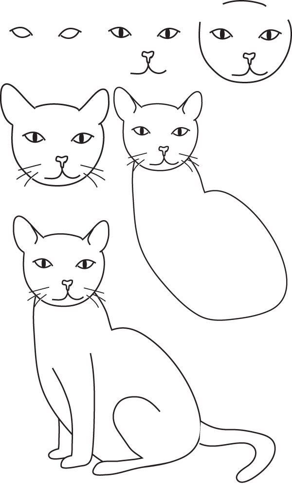 Cat Drawing Poses At Getdrawings Com