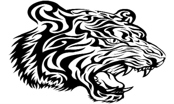 570x342 Tribal Tiger Illusion Knitting Pattern, Tiger Shadow Knitting