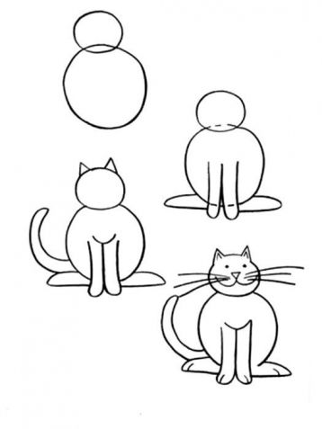 Cat Simple Drawing