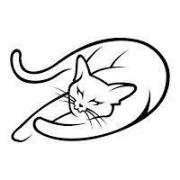Cat Sleeping Drawing