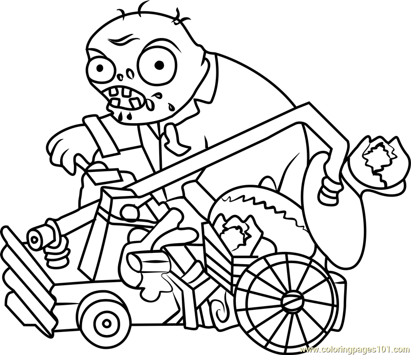 800x692 Catapult Zombie Coloring Page
