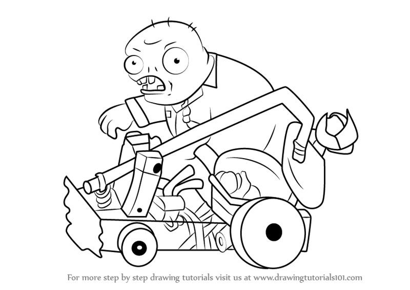 800x565 Learn How To Draw Catapult Zombie From Plants Vs. Zombies (Plants