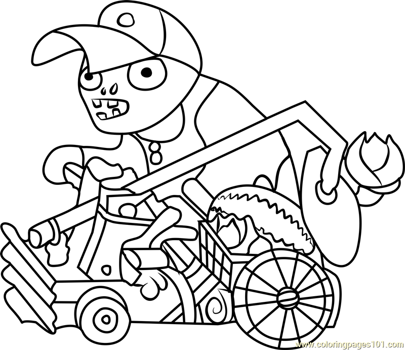 800x691 Catapult Baseball Zombie Coloring Page