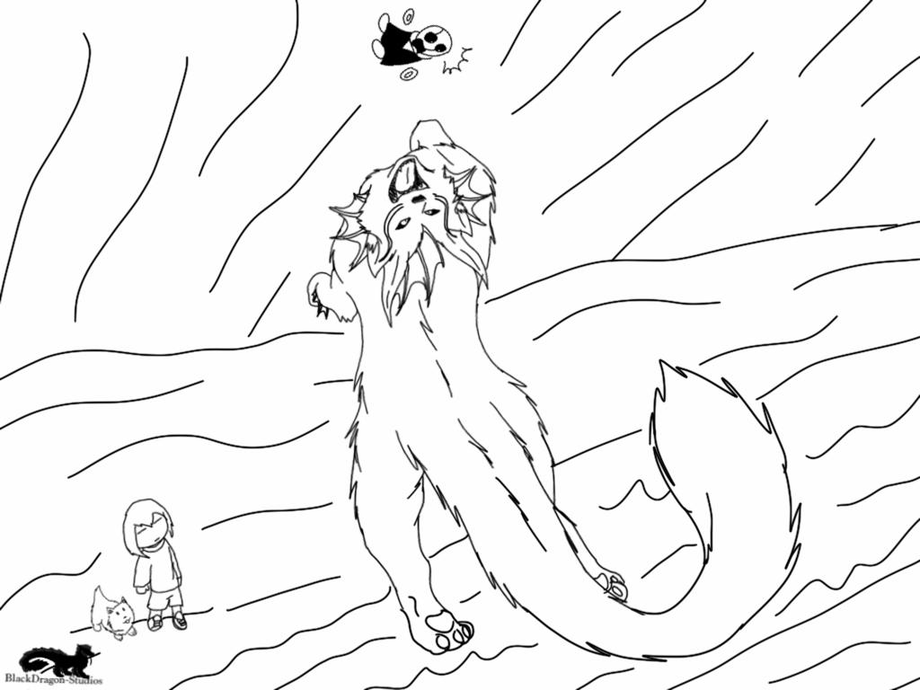 1024x768 Okamitale Catch The Blob! Sketch By Blackdragon Studios