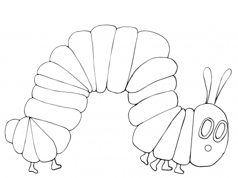 465x348 Very Hungry Caterpillar Coloring Page Super Coloring Eric
