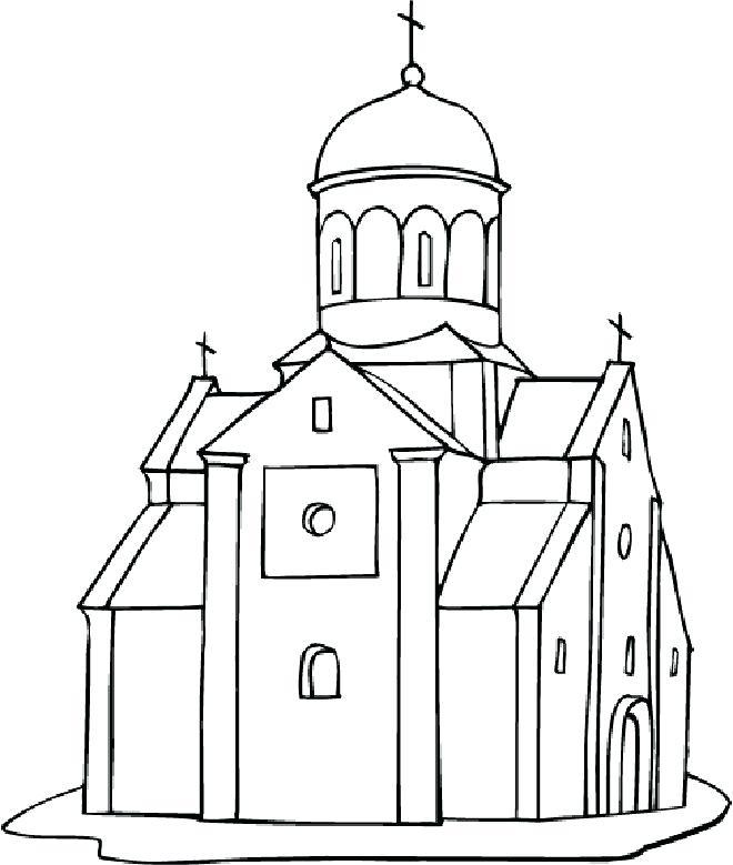 660x779 Church Coloring Pages Church Coloring Pages For Preschool St John