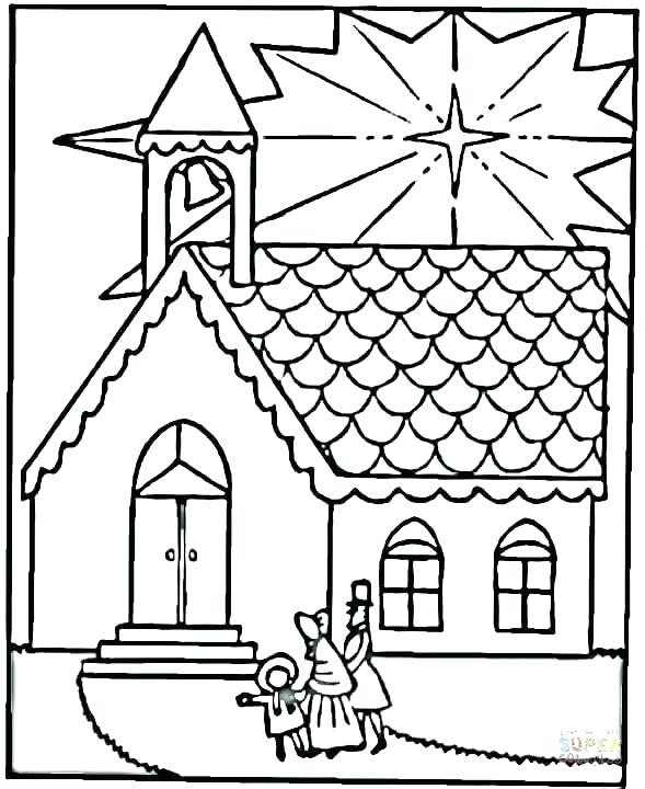 589x720 Church Coloring Pages Church House Collection Blog Lives In My
