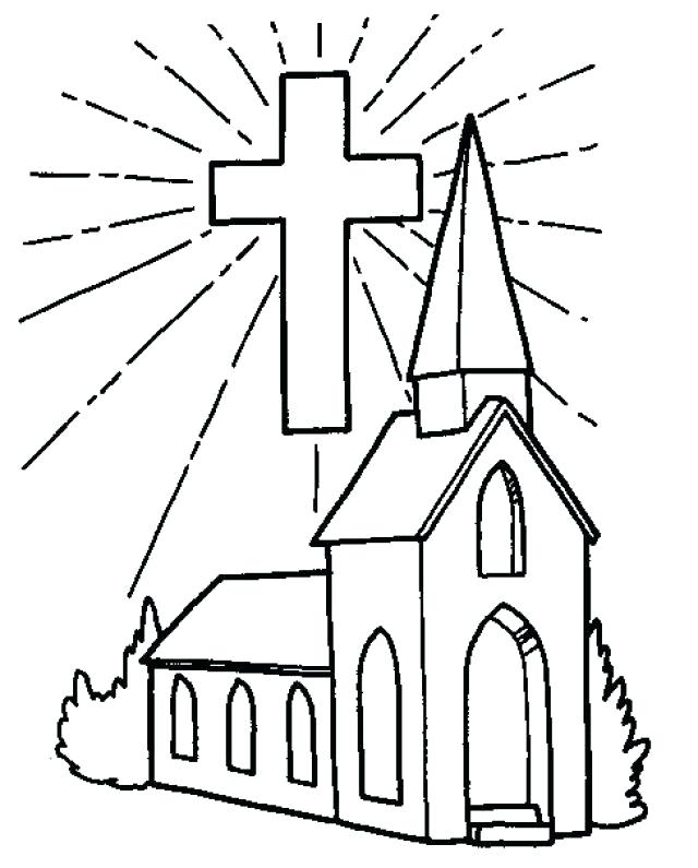 640x795 Church Coloring Pages