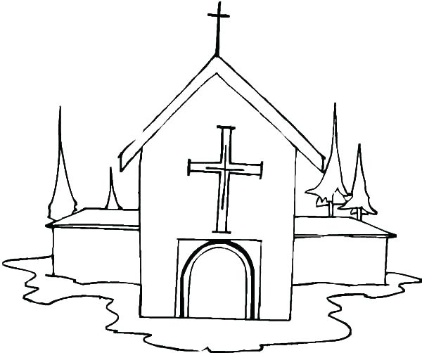 600x502 Church Coloring Pages