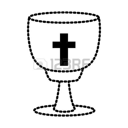 450x450 Catholic Cross Chalice Icon Vector Illustration Graphic Design