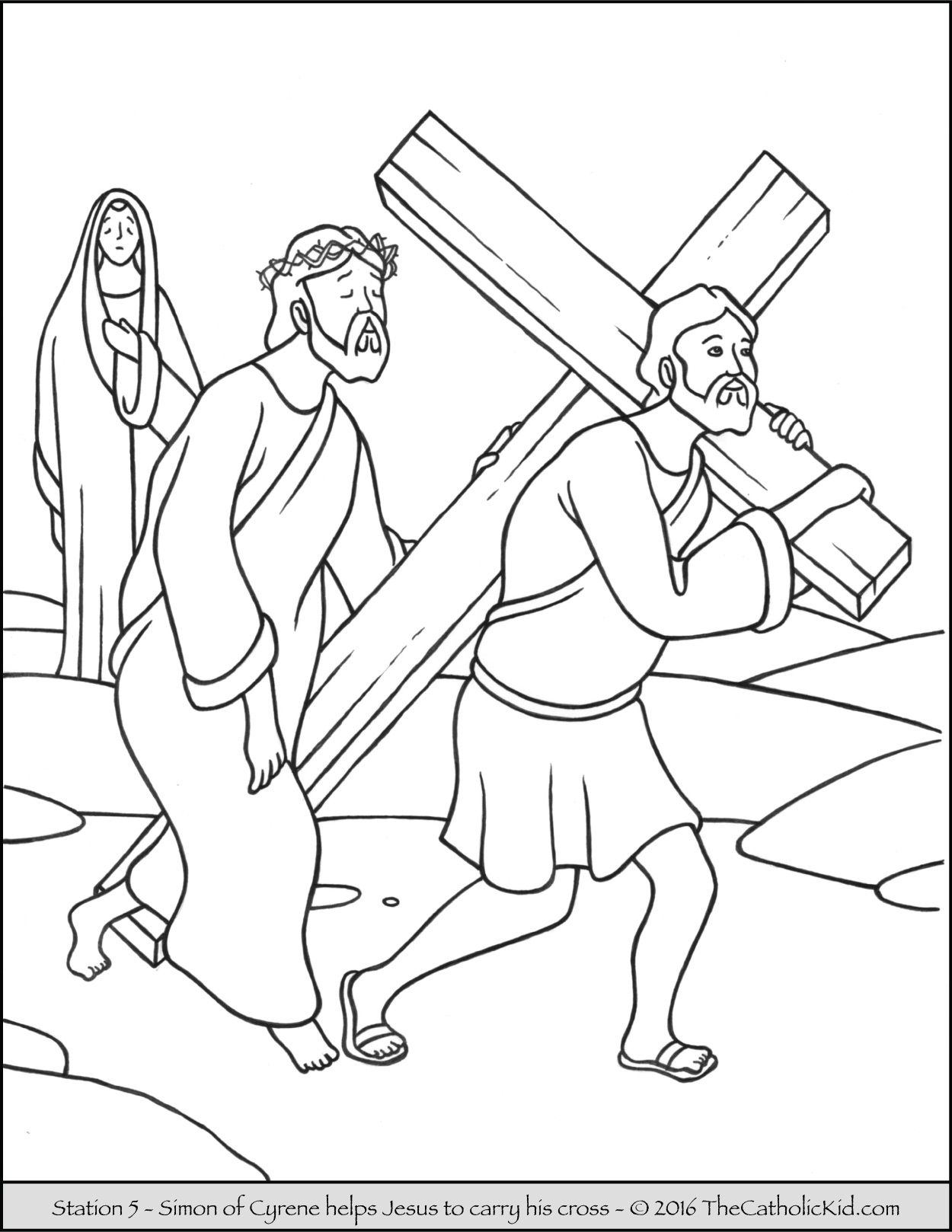 1250x1618 Stations Of The Cross Coloring Pages 5