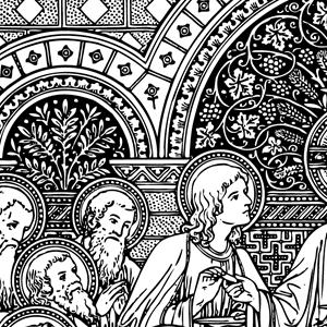 300x300 Catholic Line Art, Black And White Installment
