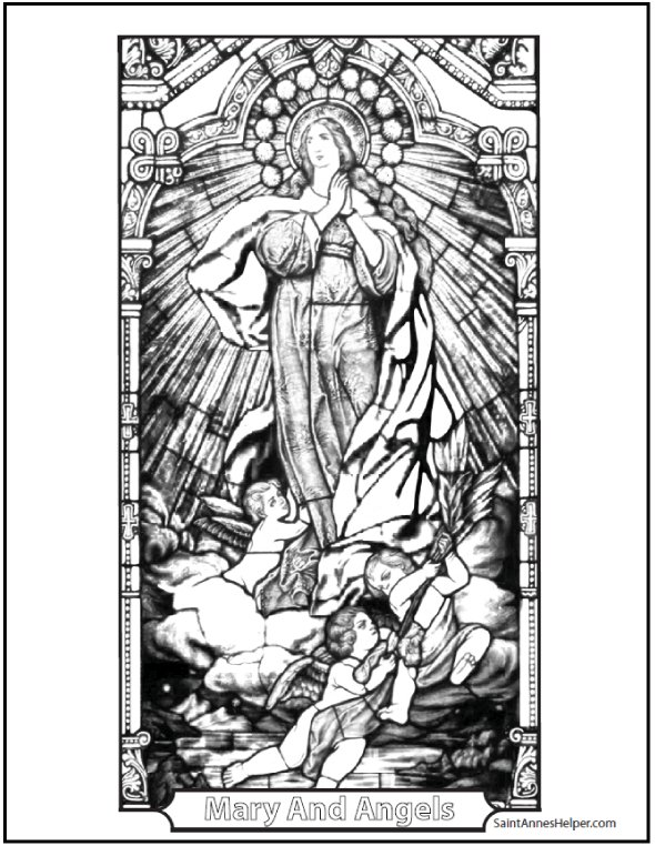 590x762 150 Catholic Coloring Pages Sacraments Rosary Saints Children