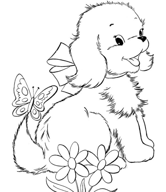 580x670 Drawn Baby Animal Cute Dog
