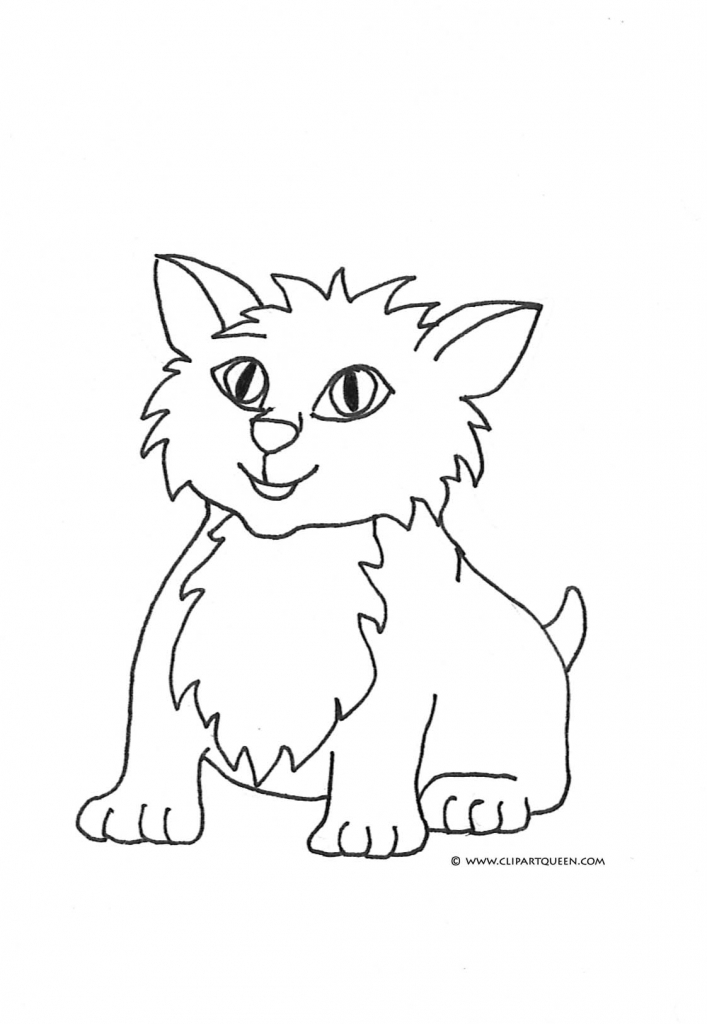 707x1024 Drawings Of Cats And Kittens Cat Coloring Pages