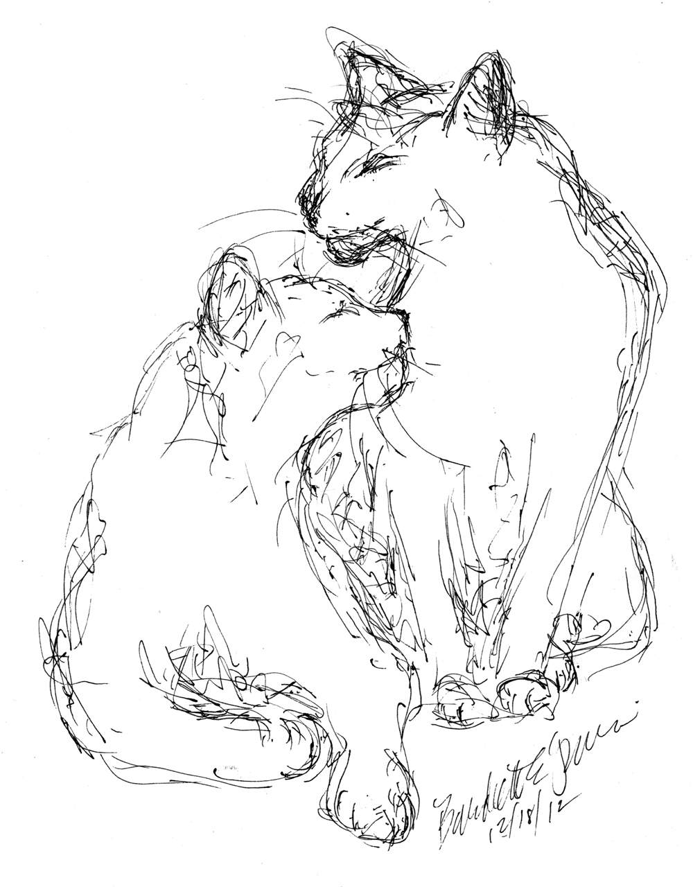 1000x1280 Daily Sketch Oh Mom, Oh Giuseppe ~ The Creative Cat