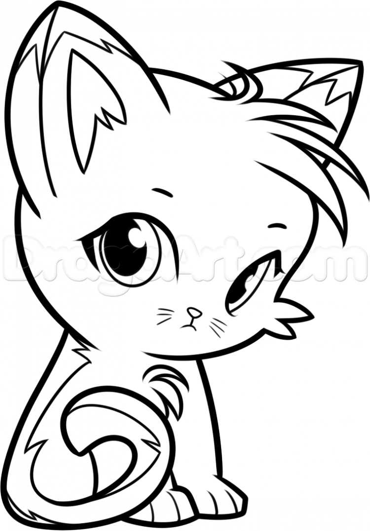 750x1074 Drawing How To Draw A Simple Chibi Cat In Conjunction With How