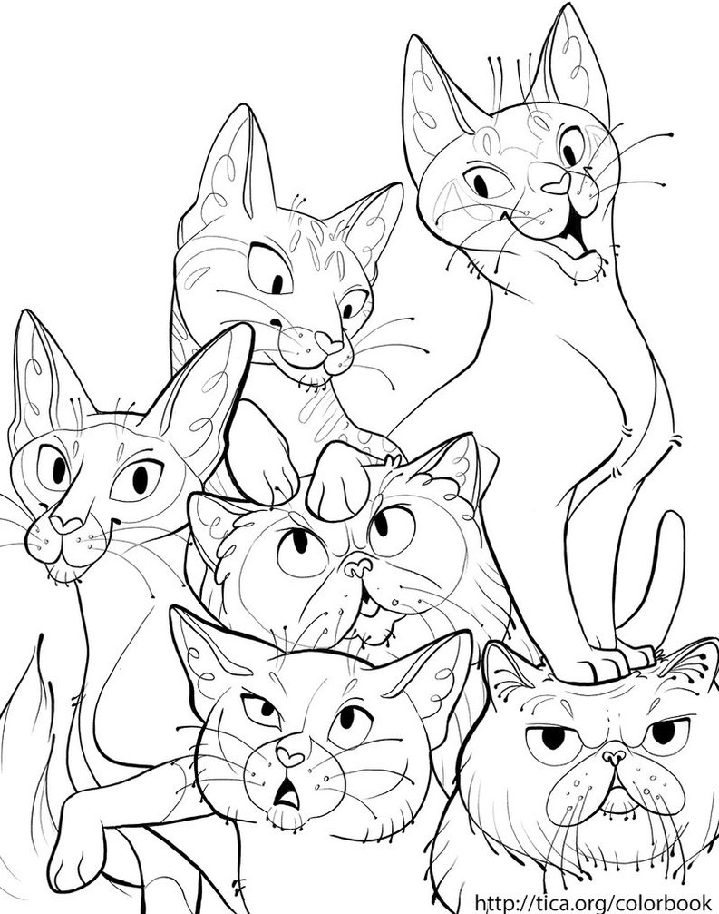 793x1007 TICA Cat Coloring Book Page 6 By Kiki Doodle On DeviantArt