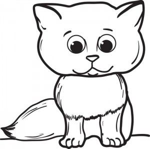 Cats Drawing For Kids