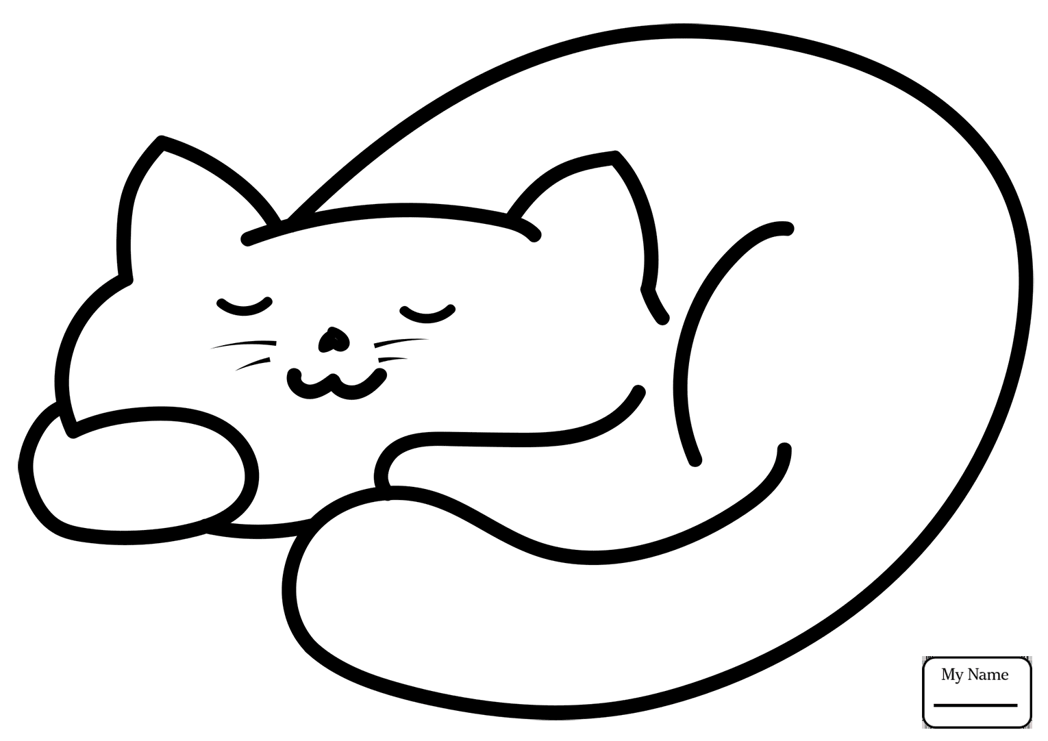 1530x1082 Cats Cartoon Kitten Mammals Coloring Pages For Kids