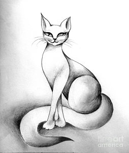 254x300 Cats Eye Drawings