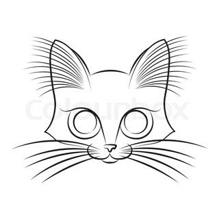 320x320 Funny Orange In Love Cat On White Background Stock Vector