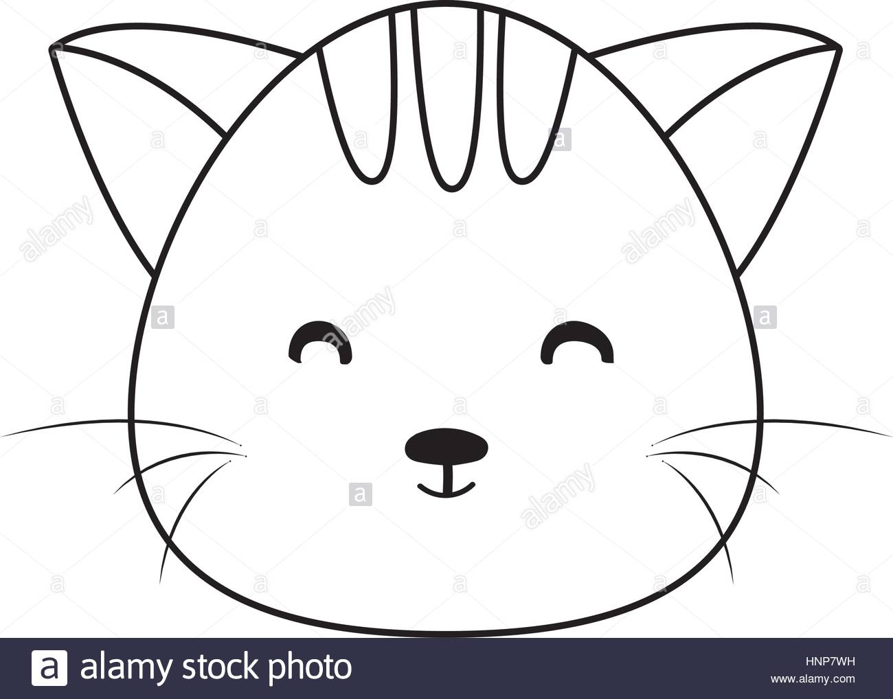 1300x1018 Cat Drawing Face Stock Vector Art Amp Illustration, Vector Image