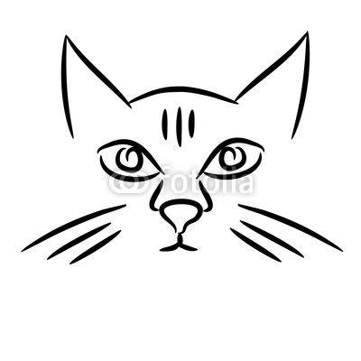 400x400 Cat Drawing Face Stock Vector 71682466. Catdrawing 4