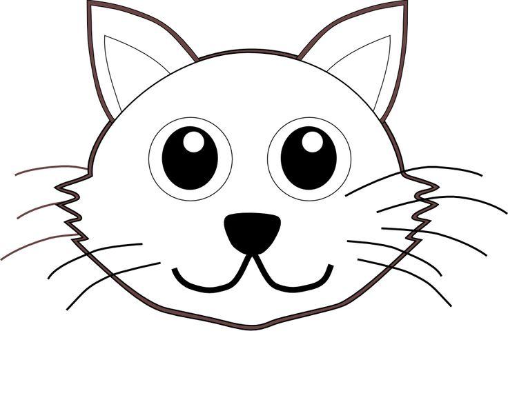 736x580 Cat Face Drawing Cartoon Kitten Face Clipart 42 Free