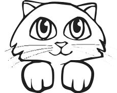 230x184 Cat Face Drawing Clipart
