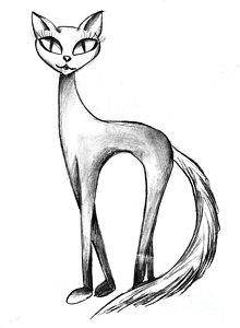 220x300 Cat Face Drawings