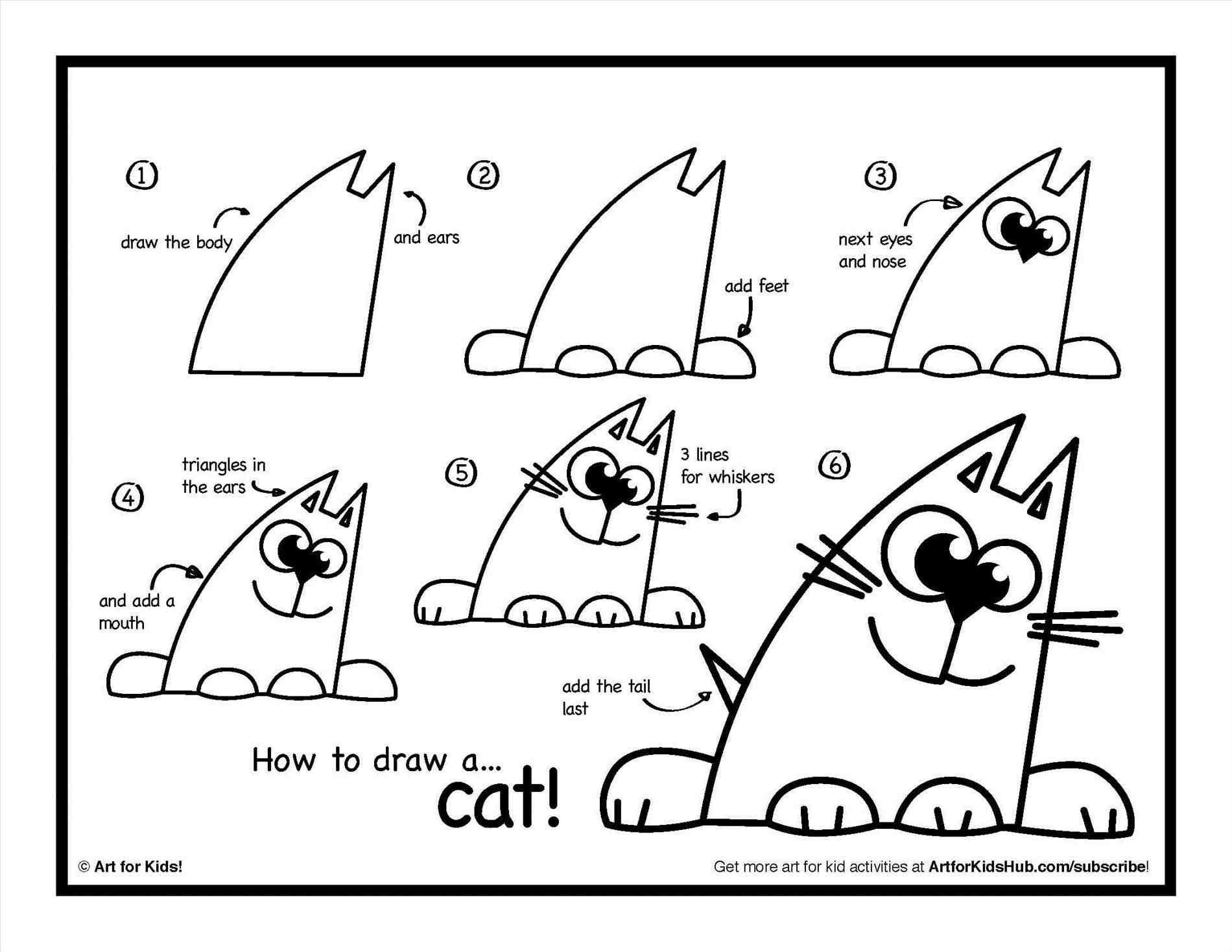 1900x1468 How To Draw A Cat Step By Step Instructions