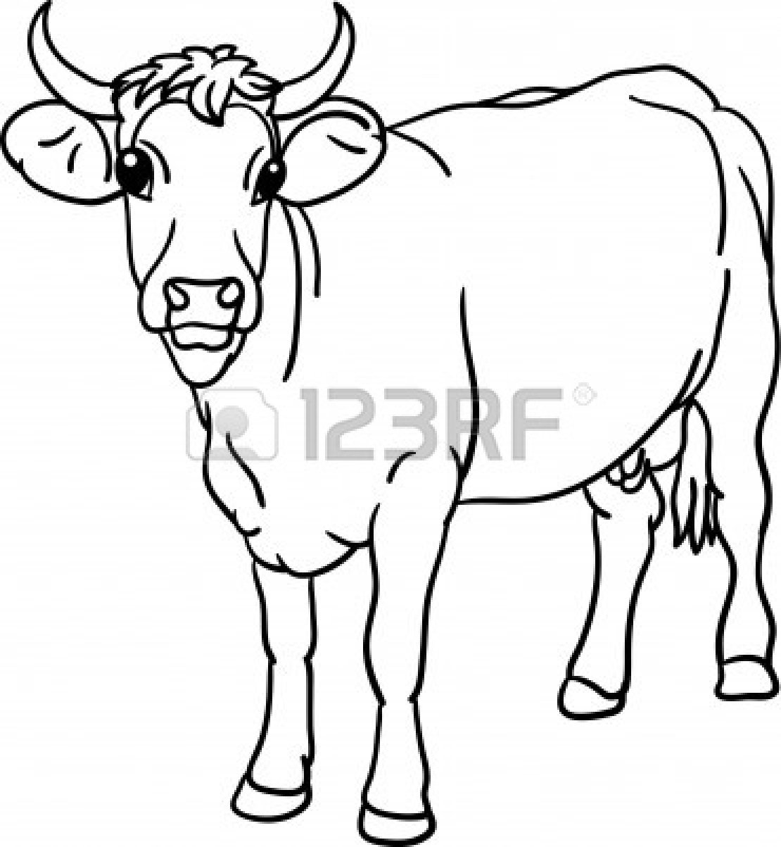 1110x1203 Beef Cow Drawing Clipart Panda