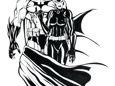 catwoman cartoon coloring pages - photo#37