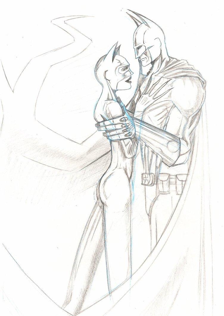 752x1062 Batman And Catwoman By Goboshiba Yakasaki