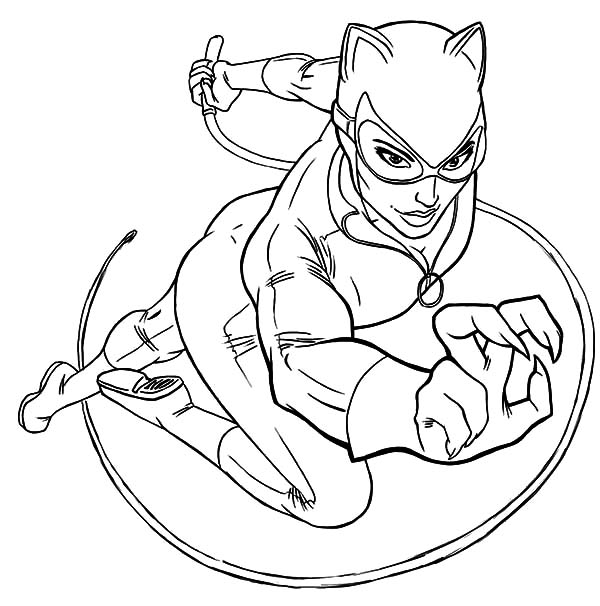 Catwoman printable coloring pages ~ Catwoman Drawing at GetDrawings.com | Free for personal ...