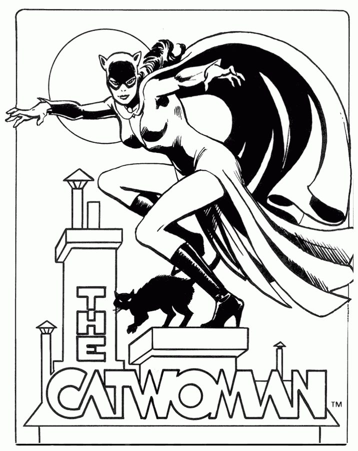 716x900 Coloring Pages Catwoman, Printable For Kids Amp Adults, Free