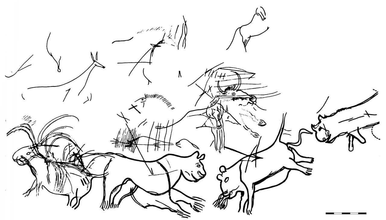 1280x728 Cave Lions Found In The Chamber Of Felines, Lascaux Caves