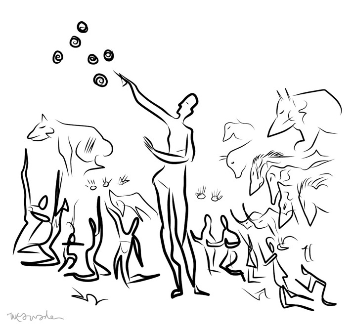 712x666 Prometheus Movie Poster By Pj Mcquade Cave Drawings