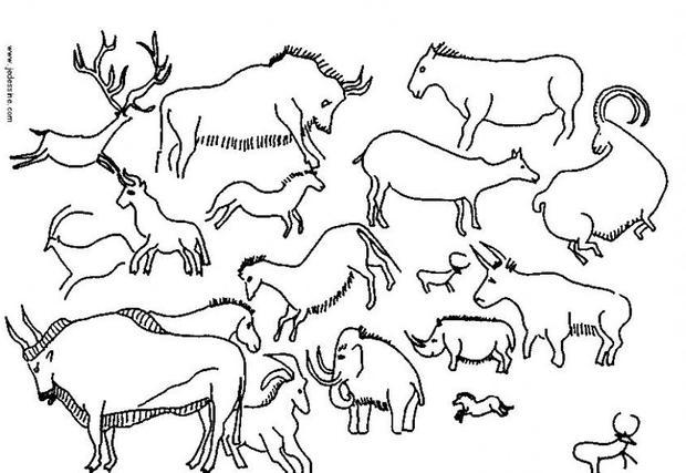 620x427 Cave Painting Coloring Pages He Cave Writing Promt