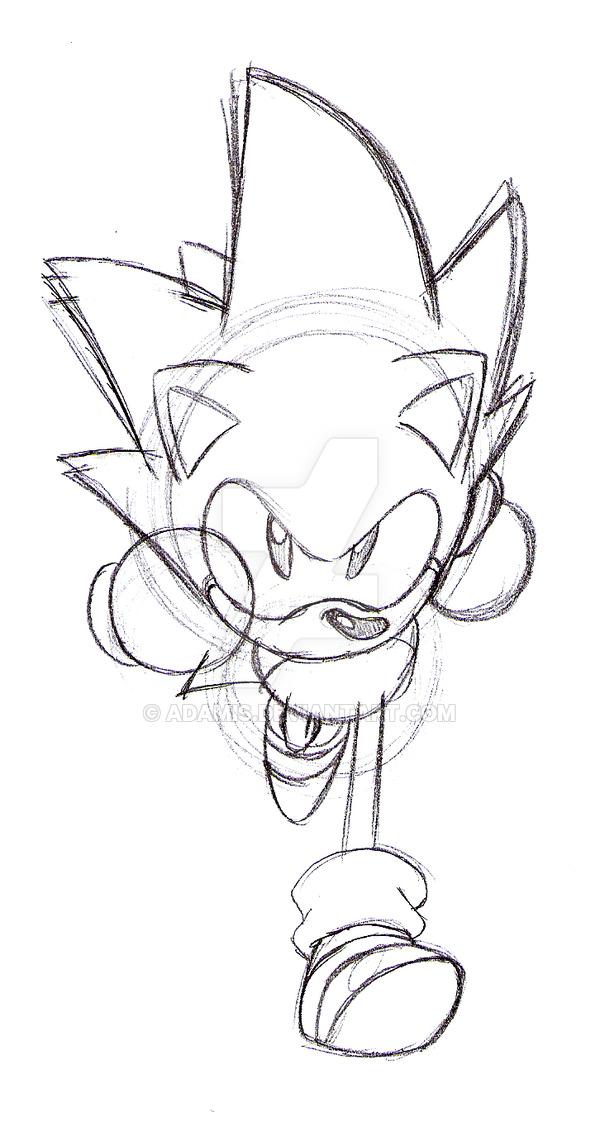 600x1126 Cd Sonic Sketch Version By Thepandamis