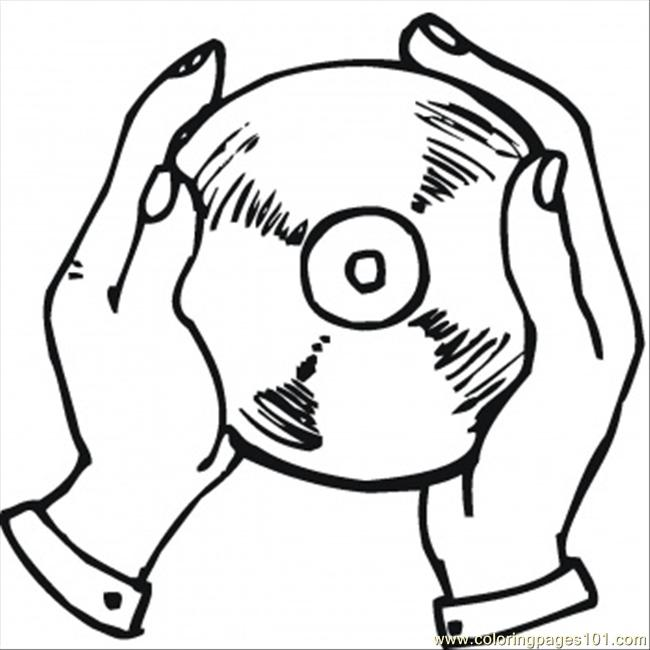 650x650 Cd In The Hands Coloring Page