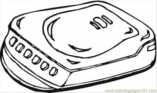 650x384 Cd Player Coloring Page