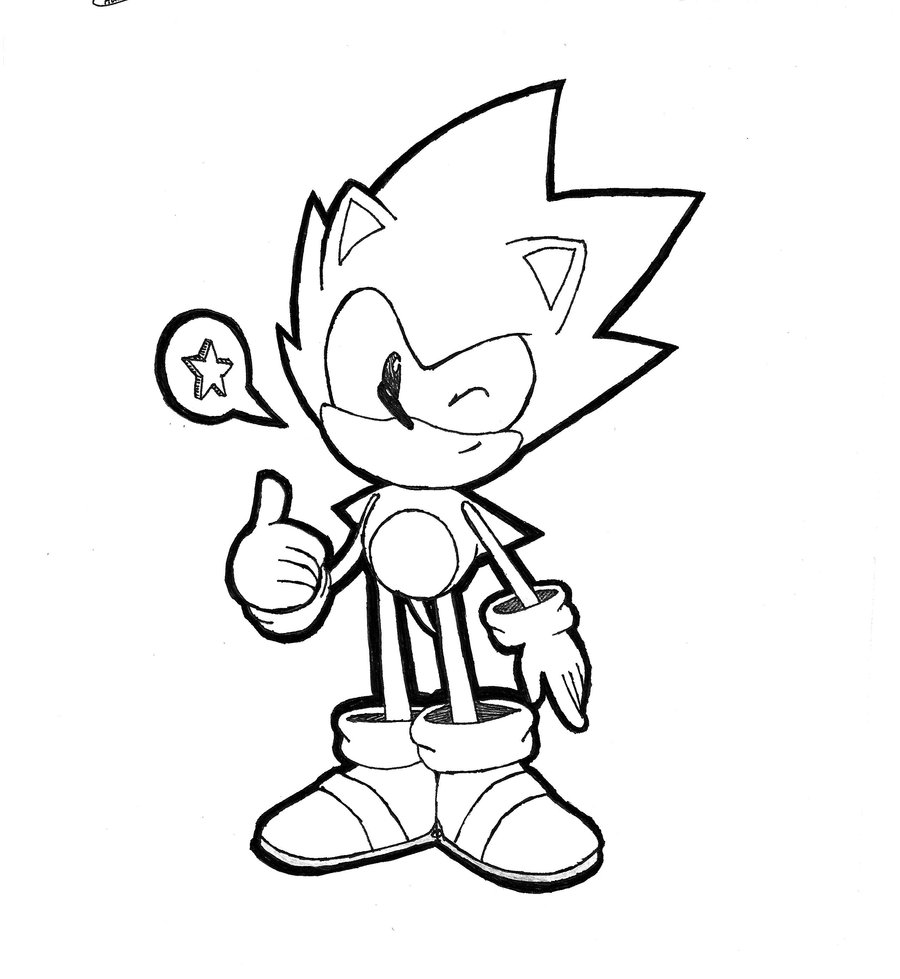 900x979 Sketch] Cd Sonic By Chaocaster
