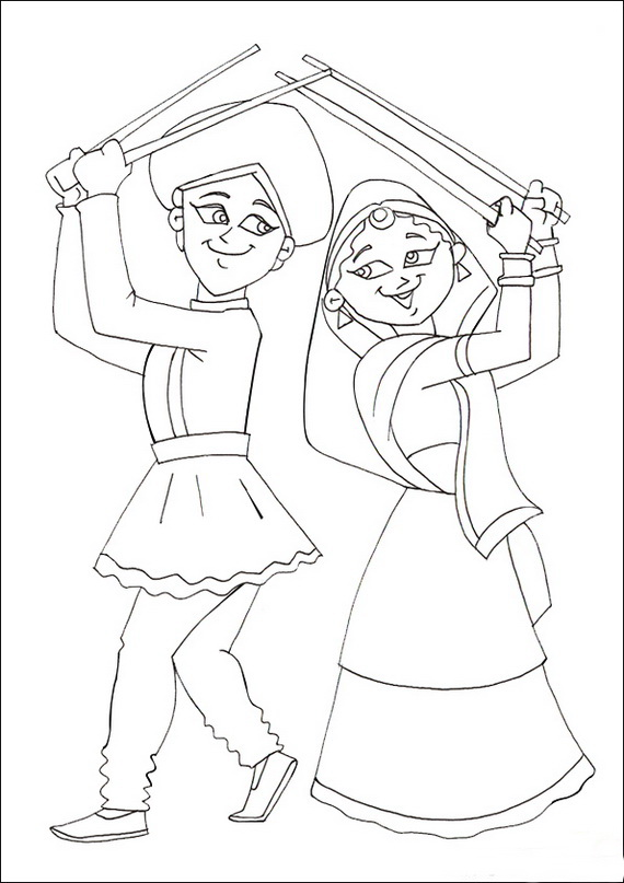 570x807 Dussehra Drawing For Kids