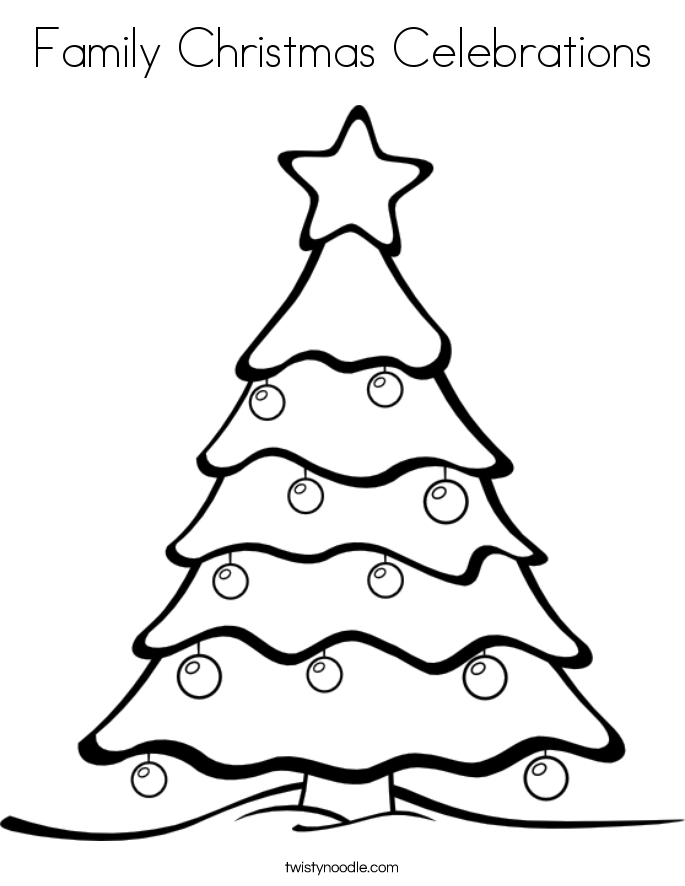 685x886 Family Christmas Celebrations Coloring Page