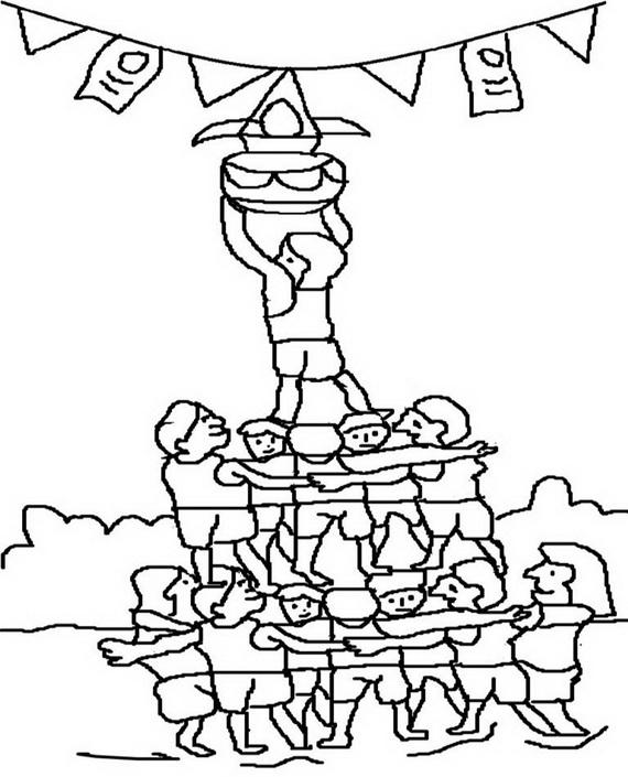 570x705 Shri Krishna Janmashtami Coloring Printable Pages For Kids