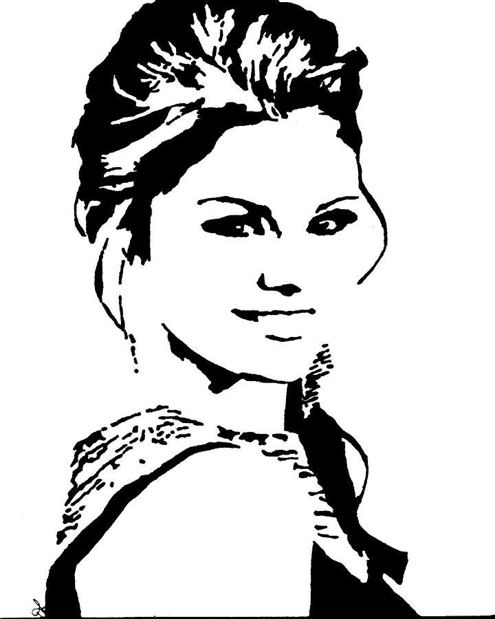 720x900 Selena Gomez Drawing By Deborah Lepor